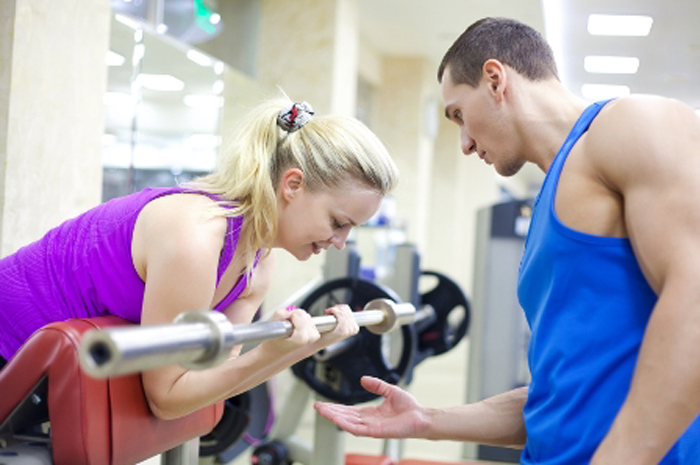 woman and man exercising